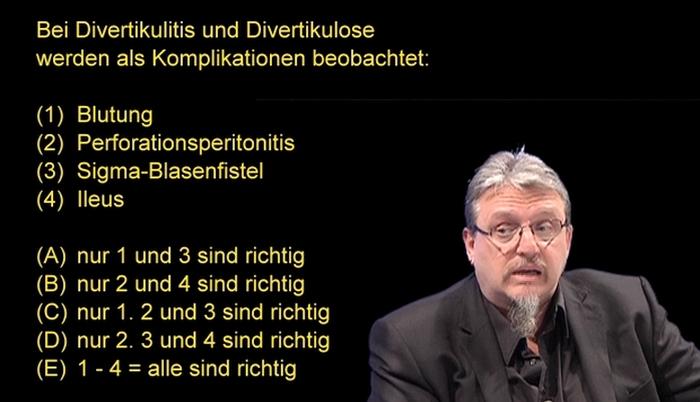 Multiple Choice Heilpraktikerprüfung: Divertikulitis / Divertikulose