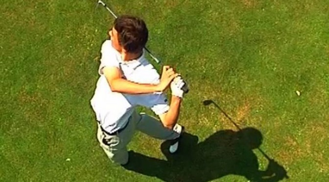Golf Ausdrehen der Schultern