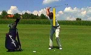 Drehen der Schultern beim Golf