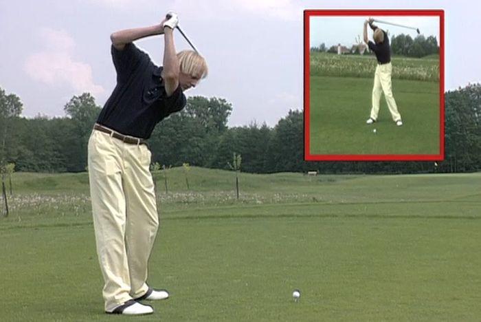 Ausholen Golfschwung