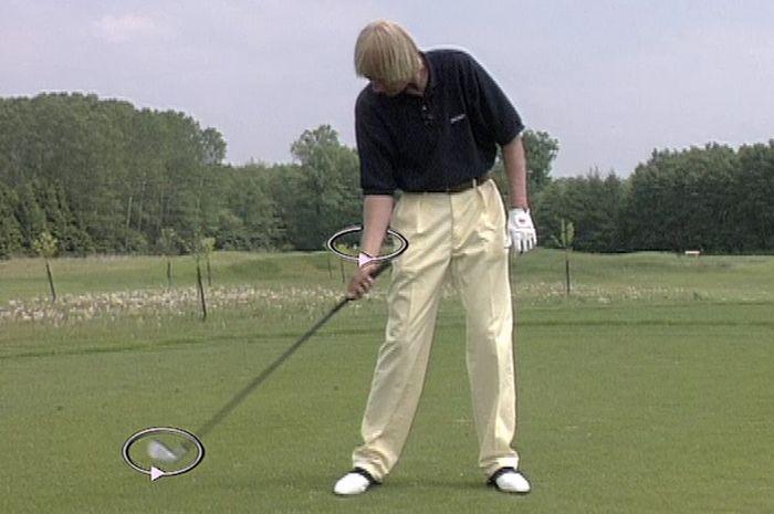 Golfschwung Unterarm