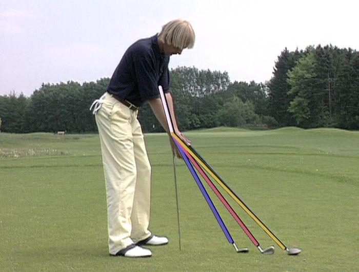 Der richtige Golfschwung - Körperhaltung