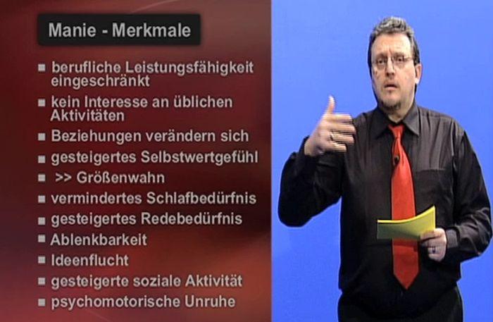 Manie Merkmale