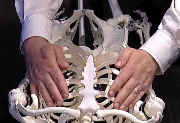 Quadrantenuntersuchung Rückenlage