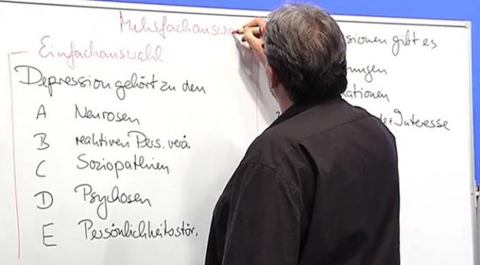Beispiel: Schriftliche Heilpraktikerprüfung Psychotherapie