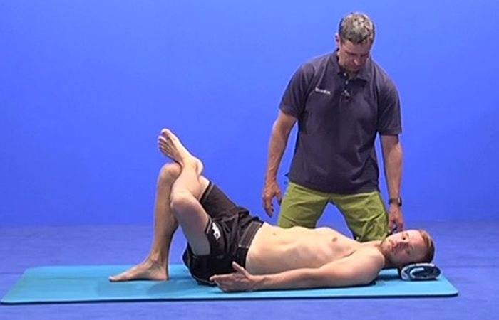 Faszientraining Übung Rückenlage